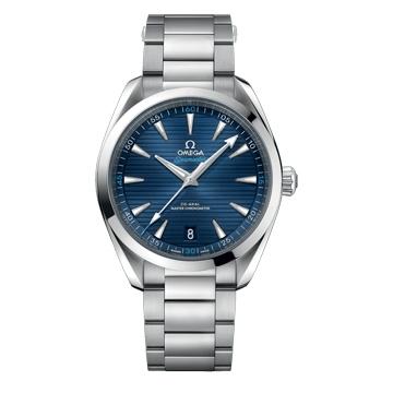 アクアテラの青文字盤腕時計「アクアテラ」