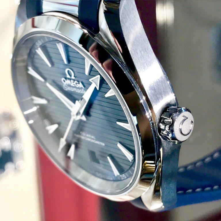 オメガ シーマスター アクアテラ ブルー 青 正規代理店 高級時計
