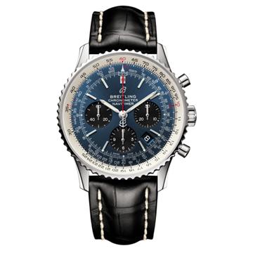 青文字盤の腕時計「ナビタイマー」ブライトリング長野市正規販売店