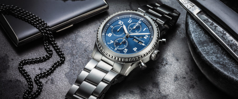 ブライトリングの腕時計「アビエーター」