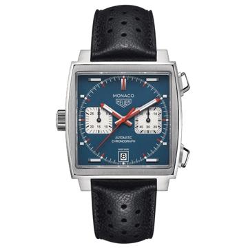 ブルー文字盤が美しい時計「モナコ」